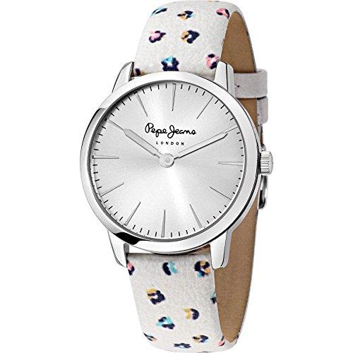 Pepe Jeans R2351122506 - Reloj de pulsera Mujer, Cuero, color Blanco