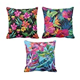 TYYC New Year Gifts for Home Floral Pattern Printed Cushion Covers Set of 3 - 12x12 inches