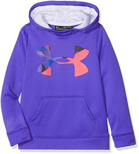 Under Armour Mädchen Armour Fleece Big Logo Hoody Oberteil, Constellation Purple, YSM -