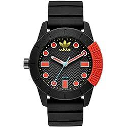Adidas ADH3176 Uhr Herrenuhr Kautschuk Kunststoff 10 bar Analog schwarz