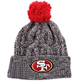 New Era San Francisco 49ers Beanie One Size Graphite Red