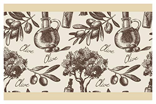 I-love-Wandtattoo Selbstklebende Bordüre Küche Borte Olivenbaum Wanddeko