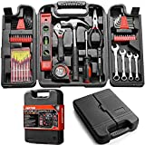 Dekton 53pc Essential Tool Kit Set - Spanner Hammer Wrench Screwdriver Screw Bits
