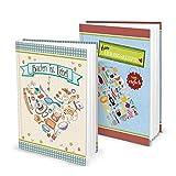Geschenk-SET zu Weihnachten Geburtstag Hochzeit: 2 x DIN A5 Rezeptbuch Kochbuch Backbuch zum Selberschreiben MEINE REZEPTE sammeln Kochrezepte Backrezepte - Küche Essen gesunde Ernährung