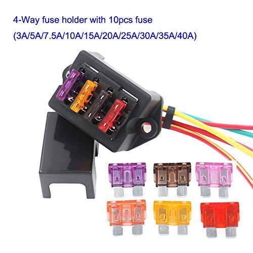 10pcs Coque plastique 30A 32V Standard Lame ATC//ATO fusible pour auto voiture