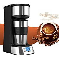 Machine à café, cafetière filtre portable Pyrus avec une seule tasse (420ml) pour voyage, bureau, maison