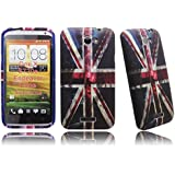 Samsung Galaxy S2 i9100 UK Flag Print Soft Rubber Jelly Case Cover Plus Free Screen Protector & Screen Polishing Cloth