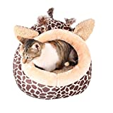 LA VIE Pet Canile Carino Caldo a Forma di Giraffa Casa Letto Cuccia Morbido Nido Casette per Cani Gatto Cane Piccolo L