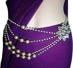 Jn Handicraft Multilayer Waist Belt/Belly Chain & Saree Pin For Women