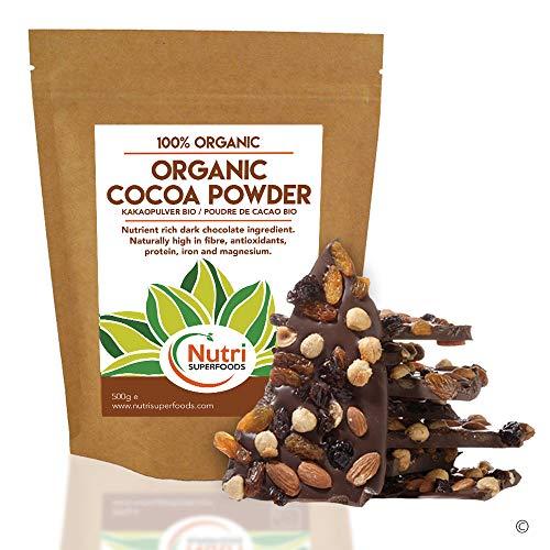 Nutri Superfoods Cacao Orgánico en Polvo de Alta Calidad es 100% Orgánico.       Nuestros granos de Cacao son de calidad superior y crecen en las tierras fértiles del Peru. Los mejores granos se cosechan al abrir la mazorca, se dejan fermenta...