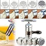 Upxiang Edelstahl Pasta Nudel Maker Hand Pressen Nudel Die Nudelmaschine Fruchtpresse Presse Küche Spaghetti Maschine