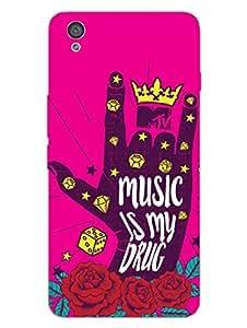 OnePlus X Back Cover - MTV Gone Case - Music Is My Drug - Pink - Designer Printed Hard Shell Case