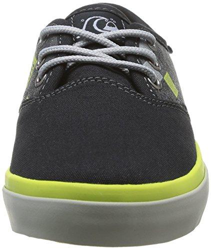 Quiksilver Shorebreak Youth, Baskets mode garçon Multicolore (Grey/Green/Grey)