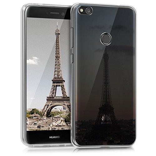 kwmobile Huawei P8 Lite (2017) Hülle - Handyhülle für Huawei P8 Lite (2017) - Handy Case in Anthrazit Rosa Transparent