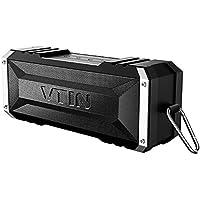 VTIN Bluetooth Lautsprecher, 25-Stunden-Akkulaufzeit und 20W Dual-Treiber  Drahtloser Speaker Musikbox mit tiefem Bass und eingebautem Mikrofon für iPhone, iPad, Samsung, und andere Android Geräte (Schwarz)