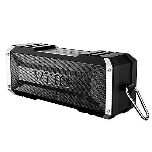 VTIN Bluetooth Lautsprecher, 25-Stunden-Akkulaufzeit und 20W Dual-Treiber  Drahtloser Speaker...