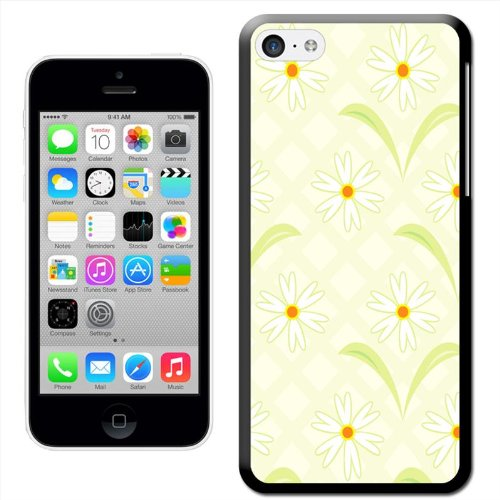 Fancy A Snuggle 'Sketch of Pretty Pink Blumen' Hard Case Clip On Back Cover für Apple iPhone 5 C Daisy Flower Pattern