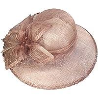 Peng sounded Moda Sombrero de Visera de Playa de Verano Sombrero de Bola de Banquete Sombrero de Lino de Color sólido.