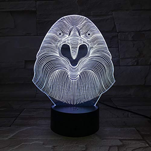 Eule führte reizende tierische kreative Nachtlampe/Acryl-Lichter 3D / Baby-Schlafzimmer-Tischlampe/mit Usb 3D-7213D