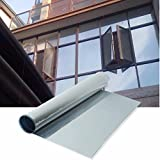 76cm X 10 Metre Silver Reflective Window Film Solar Control & Privacy Tint One Way Mirror Mirrored Glass