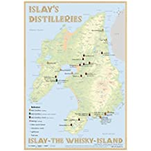 Whisky Distilleries Islay - Tasting Map 24x34cm: Islay - The Whisky-Island