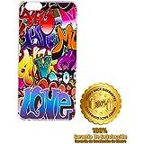 Color Dreams® Funda Iphone 6 6S Plus de Apple diseño único y exclusivo, carcasa dura de alta protección de diseño (Graffiti)