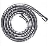 Housler® qualità 1.5m S. cromato. Tubo doccia in ottone con dadi