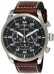 Idea Regalo - Citizen Orologio Cronografo Quarzo Uomo con Cinturino in Pelle CA4210-16E