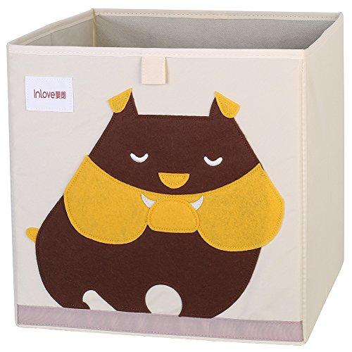 Cartoon Aufbewahrungswürfel Leinwand faltbare Spielzeug Aufbewahrungsbox für Kinder von ELLEMOI (Hund) -