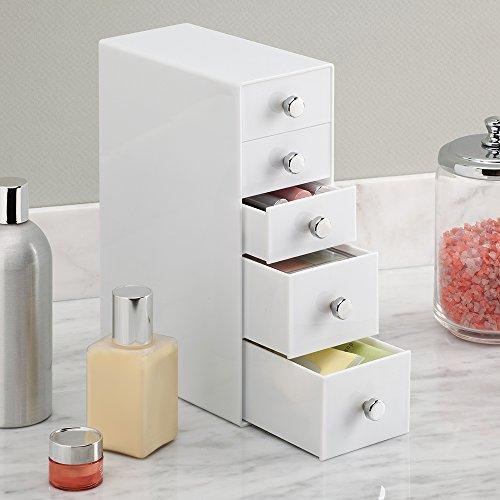 Interdesign drawers portaoggetti per bagno con 5 cassetti - Accessori bagno fai da te ...