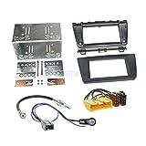 Mazda 6 GH 08-12 2-DIN Autoradio Einbauset in original Plug&Play Qualität mit Antennenadapter Radioanschlusskabel Zubehör und Radioblende Einbaurahmen schwarz