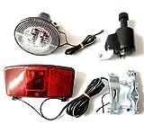 Fahrrad Beleuchtung Set Dynamo Frontlampe Rücklicht Lampe Licht mit Halter