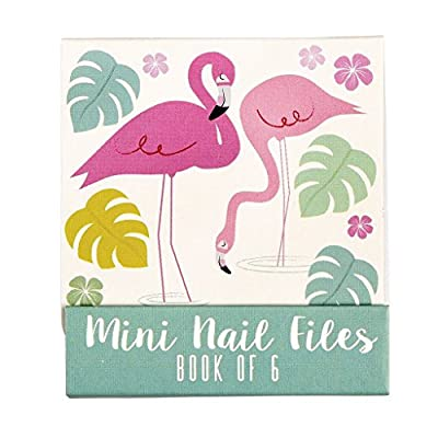 Set Of 6 Flamingo Bay Matchbook Mini Nail Files