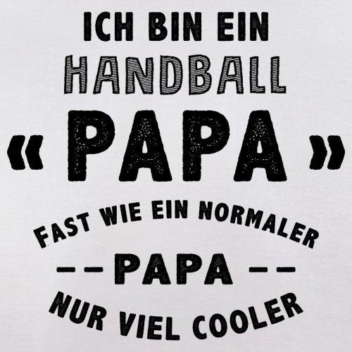 Ich bin ein Handball Papa - Herren T-Shirt - 13 Farben Weiß
