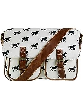 Miss LuLu Crossbody-Tasche Schulranzen Schultasche für Arbeit Reise Shopper Unisex