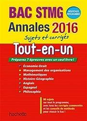 Annales 2016 Le Tout-En-Un Term Stmg