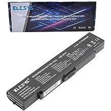BLESYS - 5200mAh Sony Vaio VGN-C11C, PCG-7Y1M, PCG-7R2l, VGN-FS515, VGN-S240, VGN-AR, VGN-FE, VGN-C, VGN-S, VGN-SZ Series batería del ordenador portátil Reemplazar para Sony VAIO VGP-BPL2 VGP-BPS2 VGP-BPS2A VGP-BPS2B VGP-BPS2C (negro)