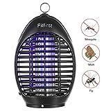 FITFIRST Elektrische Moskitoschutz Insektenvernichter UV Lampe Mücken Fliegenfänger Insektenfalle Gegen Moskitonetze, 360 Grad Fliegengitter, Insektenfalle Ohne Chimien, für Haus, Büro, Garten