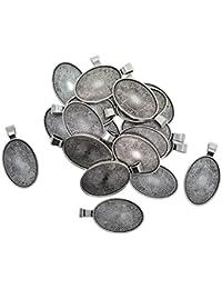 20 Stück Kreuzform Leere Cabochon Anhänger Set Lünette Anhänger Fassung