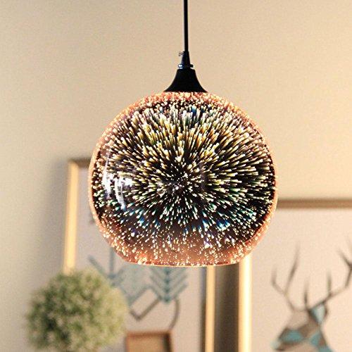 light 3D-Kunst Glas Tischlampe Kreative Individualität Bekleidungsgeschäft Café Bar Restaurant Lichter Feuerwerk Jahrgang Kronleuchter Industrie (Die Kunst Der Kostüme Ändern)
