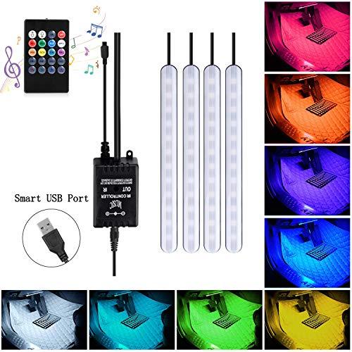 ABelle USB LED Streifen Auto Innenbeleuchtung Musik Sync Underdash 5050 SMD 5V LED Lichtleiste RGB Wasserdicht LED Stripes für LKW Van Lorry Jeep Motorrad (Lkw-led-streifen)