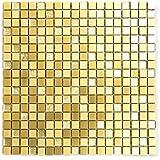 Carrelage pour carrelage mosaïque en verre et aluminium mat Mix Cuisine Salle de bain WC de 8mm doré # 770