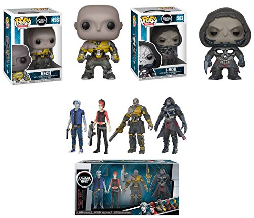 Funko POP Ready Player One Aech i Rok 4 Collectible Action Figures Parzival Art3mis Aech i Rok Stylized Vinyl Figure Bundle Set NEW