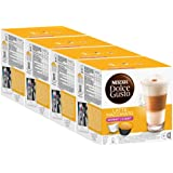 Nescafé Dolce Gusto Latte Macchiato Light, Lot de 4, 4 x 16 Capsules (32 portions)