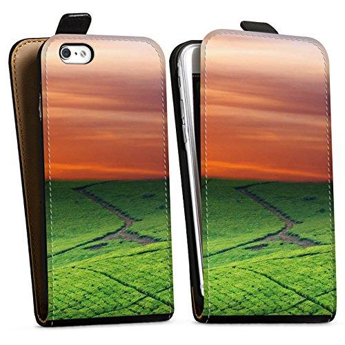 Apple iPhone X Silikon Hülle Case Schutzhülle Wiesenlandschaft Sonnenuntergang Irland Downflip Tasche schwarz
