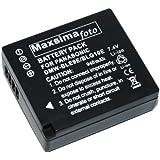 Maxsimafoto–Batterie compatible 940mAh pour Panasonic DMW-BLG10et DMW-BLE9E –Lumix GF3, S6, BLE9& BLG10 DMC-GF6, GX7, TZ80, TZ100.