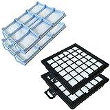 SET 2 HEPA Filter + 2 Motorfilter geeignet Für BOSCH BSG81466 / BSG 81466, BSG8... Serie, Series