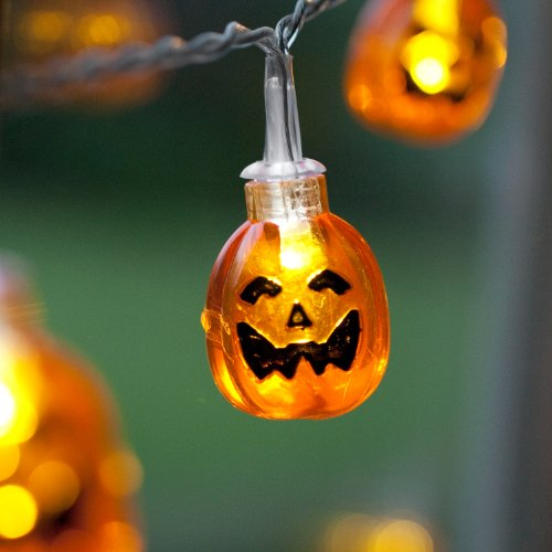 10 Halloween Pumpkin Battery Operated LED Fairy Lights by Lights4fun