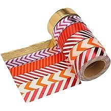 luogida Nastro Washi Tape Adesivo Decorativo Set di 6 Rotoli Incartare Regali Artigianato Scrapbooking Fai-da-Te