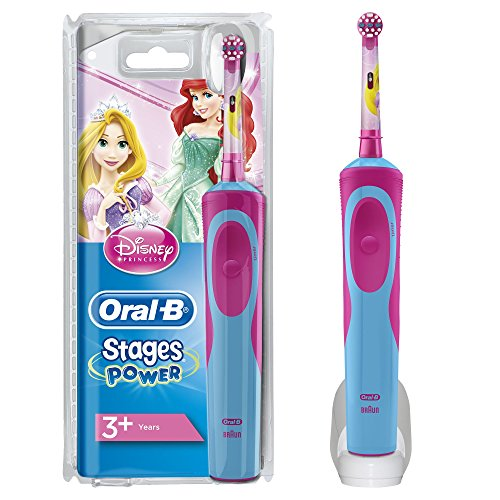Oral-B Stages Power Kids Elektrische Zahnbürste mit Disneys Prinzessinnen (elektrische Kinderzahnbürste, mit Disney-Prinzesinnen, schützt vor Karies bei Kindern, powered by Braun)